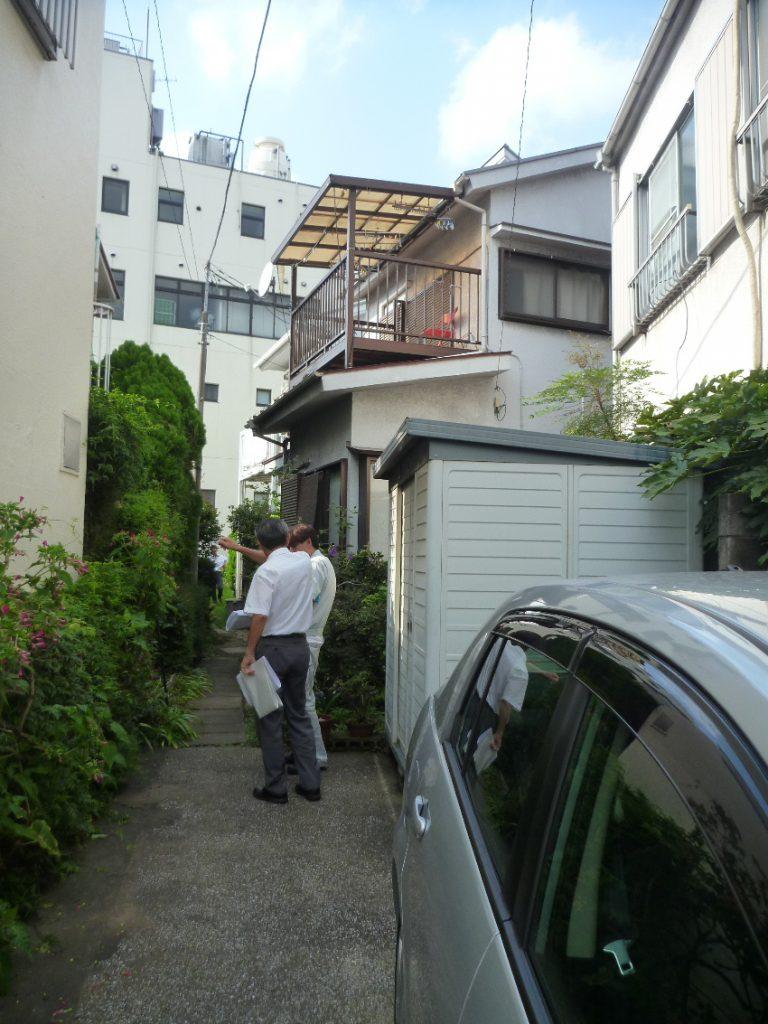 東京都目黒区東山 鉄筋コンクリート長屋建住宅の敷地状況