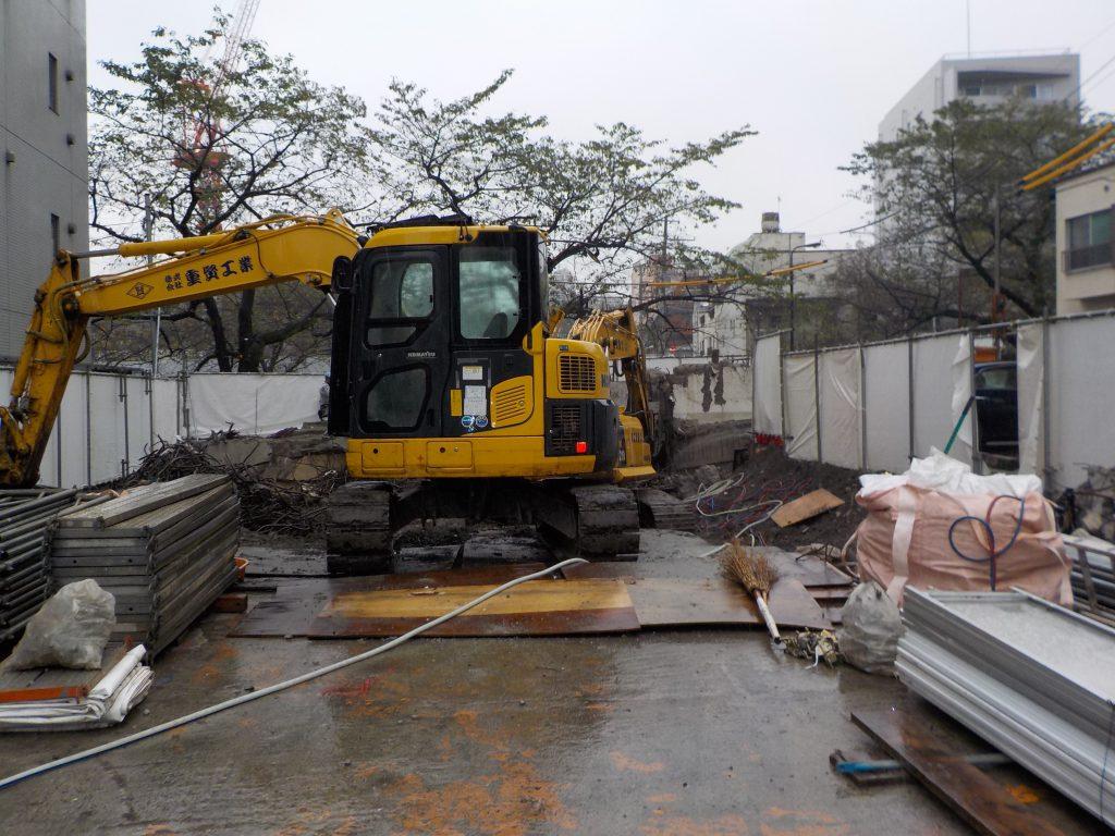 東京都新宿区 鉄筋コンクリート住宅 既存建物解体工事